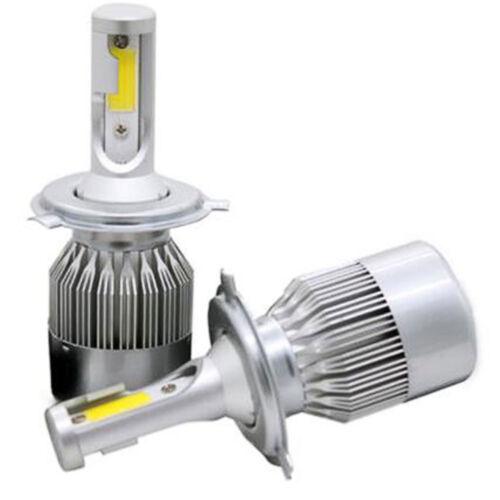 2PCS COB H4 C6 72W 7600LM LED Headlight Kit Hi//Lo Turbo Light Bulbs 6500K Car