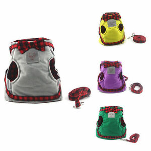 Dog Pet Puppy Cat Adjustable Training Harness Kitten Walking Cloth safety rope