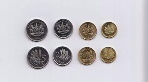 Lesotho-2-5-20-50-Maloti-4-Pieces-PCS-Coin-Set-1998-2010-KM-58-65-Mint