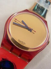 GR123 Swatch 1995 Kimiko Japanese Girl Gold Authentic Swiss Made