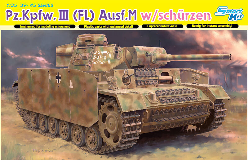Dragon 1 3 5 6776  Pz.kpfw.iii (Fl) AUSF.M with Aprons