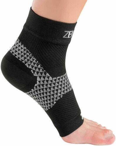 Details about  /Zensah Unisex Plantar Fasciitis Sleeve Compression Foot Plantar Black Size S