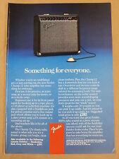 vintage magazine advert 1988 FENDER CHAMP