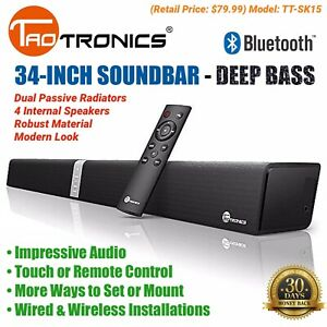 34-Sound-Bar-4-Speaker-TV-Surround-Wired-Wireless-Bluetooth-TaoTronics-TT-SK15