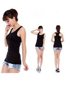 Hot-Sale-Sexy-Women-Lady-Cotton-Casual-simple-Vest-Tank-Tops-Sleeveless-UK