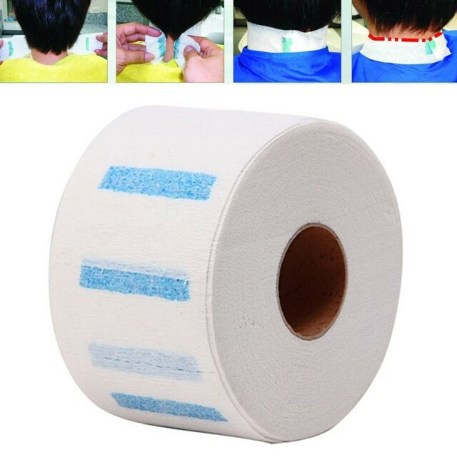 Neck Ruffle Roll Paper Hair Salon Disposable Hairdressing Collar Chic