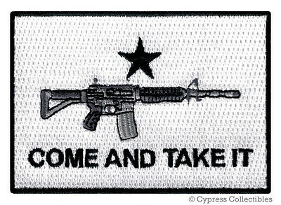 COME TAKE IT FLAG AR15 PATCH iron-on embroidered GUN ASSAULT RIFLE 2nd AMENDMENT