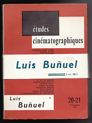 Luis Bunuel - Etudes Cinematographiques 20-21 and 22-23 - 2 Vols With Belly Band