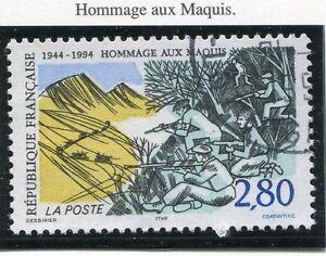 TIMBRE FRANCE OBLITERE N° 2876 HOMMAGE AUX MAQUIS / Photo non contractuelle