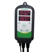 110v Heat Cold Brewing Digital Temp Controller Thermometers W/ 12 Thermocouple