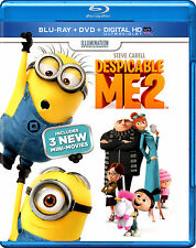 Despicable Me 2 (Blu-ray/DVD, 2013, 2-Disc Set, Includes Digital Copy;...