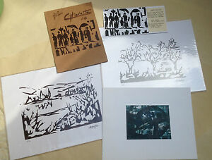 Estampes-lithographies-numerotees-signees-Alain-Chavatte-epoque-annees-70-Oissel