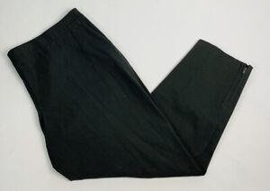 New Eileen Fisher Women's XL Organic Cotton Slim Ankle Pants Zip Hem Carbon