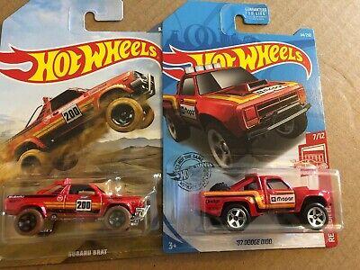 2019 Hot Wheels  Red  SUBARU BRAT  Off Road Truck Series Wal Mart Exclusive  HW1