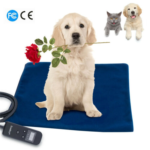 Pet Heating Pad Electric Warmer Pad Mat Double Safty with Adapter for Dogs Cat