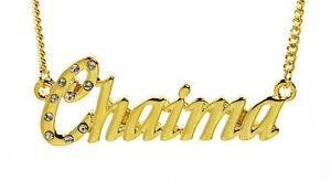 collier prenom arabe chaima
