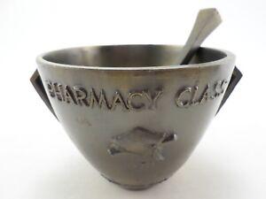 Schering-Heavy-Brass-Mortar-amp-Coricidin-Pestle-Pharmacy-Class-of-1970-Vintage
