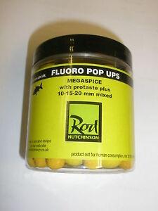 Cana-hutchinsons-Fluoro-Pop-Ups-10-15-20mm-megaspice-AMARILLO-pesca-de-carpa