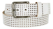 "Par 3 - Perforated 100% Leather Casual Mens Golf Belt, 1-1/2"" Wide"