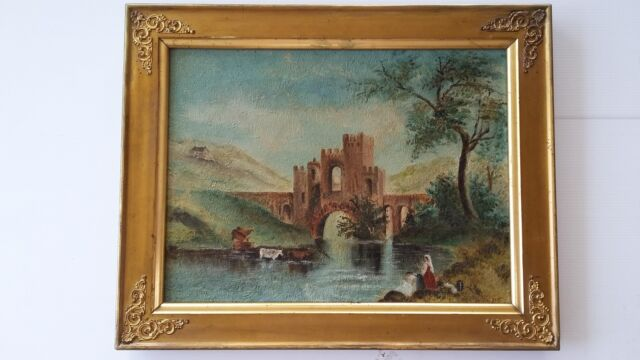19th Century Oil on Canvas painting - 13