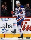 Matt Fraser Edmonton Oilers Signed Autographed 1st Oilers Goal Inscribed 8x10
