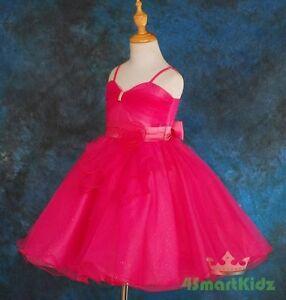 04938c7abcb6e5 50% OFF SALE Diamante Tulle Wedding Flower Girl Formal Dress Hot ...