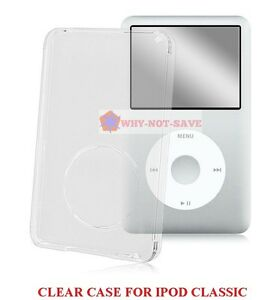 Clear Hard Front Cover Case skin for ipod Classic 5 5th gen A1136 30GB 60GB 80GB