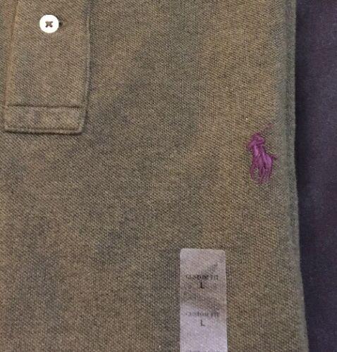 Polo Ralph Lauren Mens Custom Fit Mesh Polo Pique Knit Pony Logo