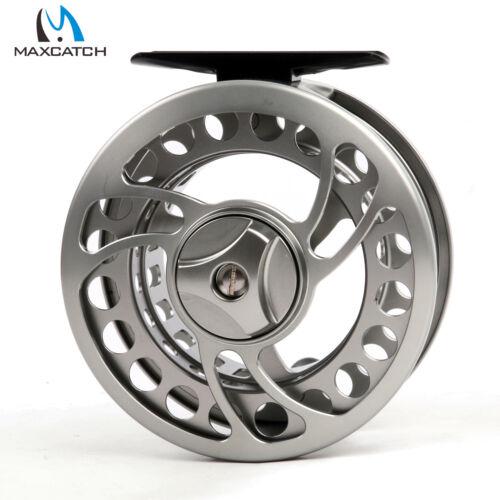 Fly Reel 5//6WT CNC Machined Aluminium Gunsmoke Fly Fishing Reel /& Reel Bag