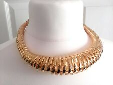 Stunning Chunky XL Gold Tone Fully Extendable Collar Statement Necklace