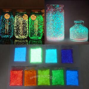 9 colors 10g glow in the dark luminous sand fish tank for Glow in the dark fish tank