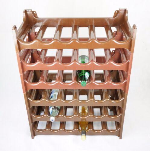 Braun Stapelbar 1-10x Flaschenregale für bis zu 6 Flaschen 60x28x14cm