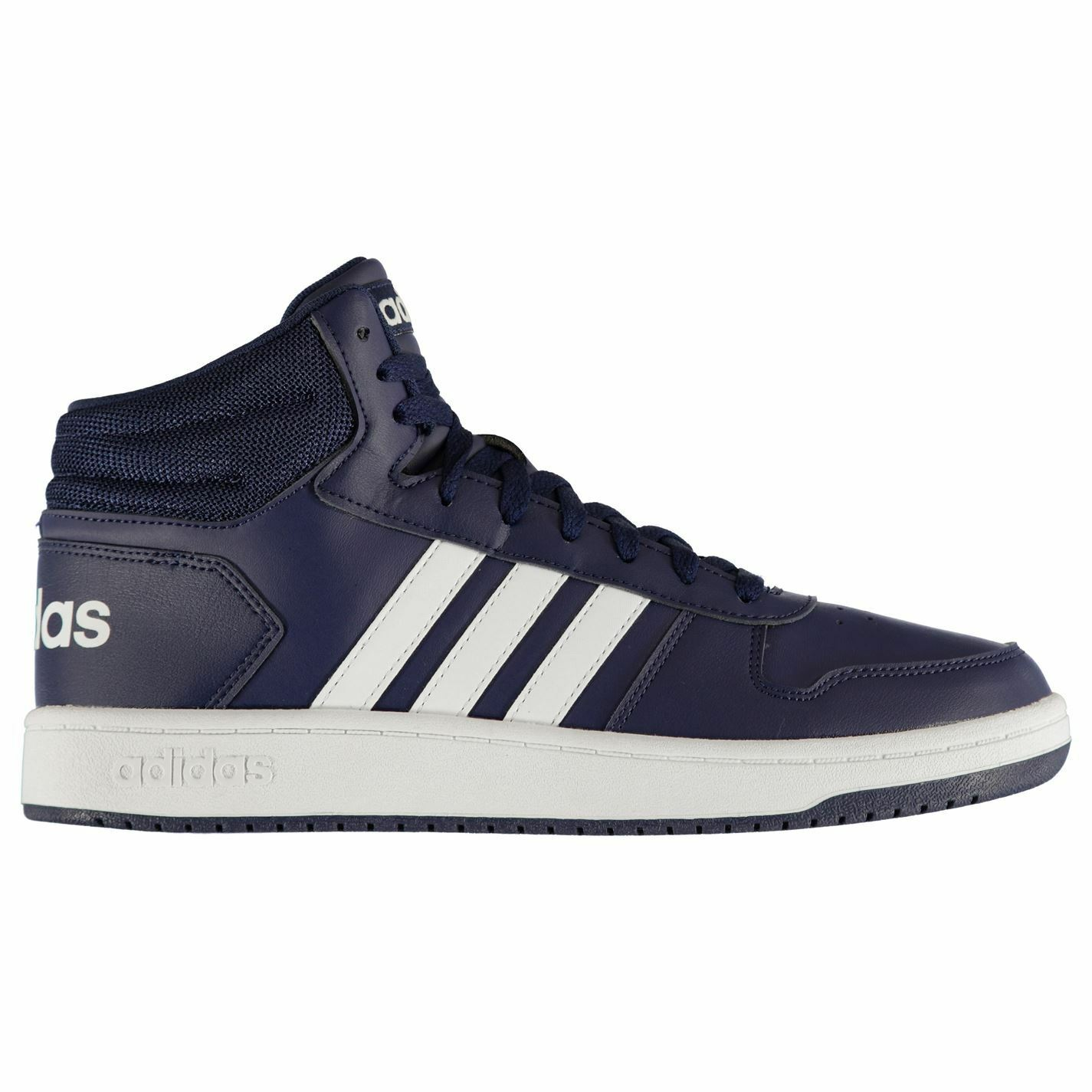 Adidas Mens Hoops Mid shoes High Top Lace Up Breathable Comfortable Fit Textured