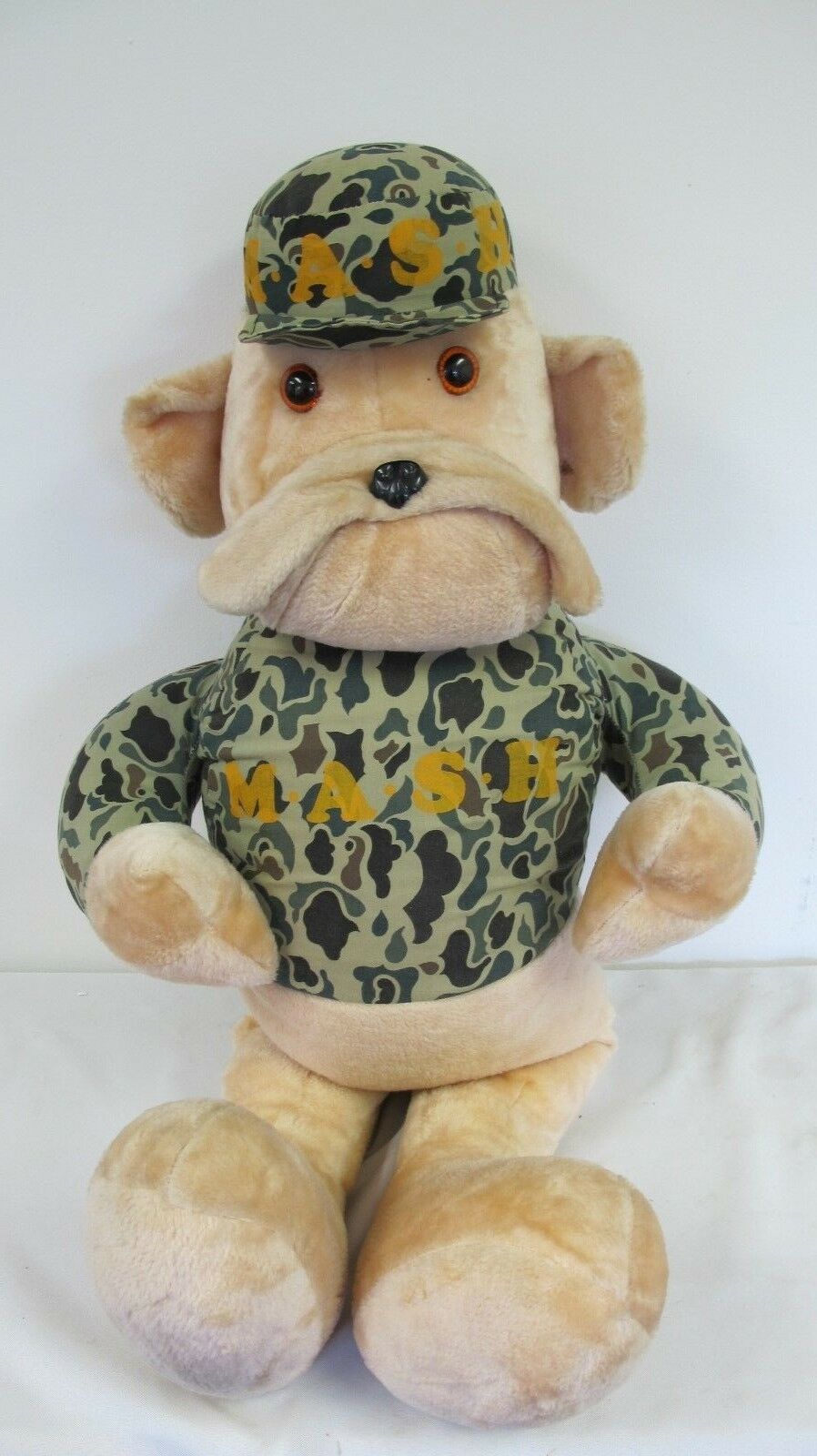 MASH MASH TV SHOW  BULL DOG GIANT HUGE PLUSH 40  STUFFED ANIMAL CAMO