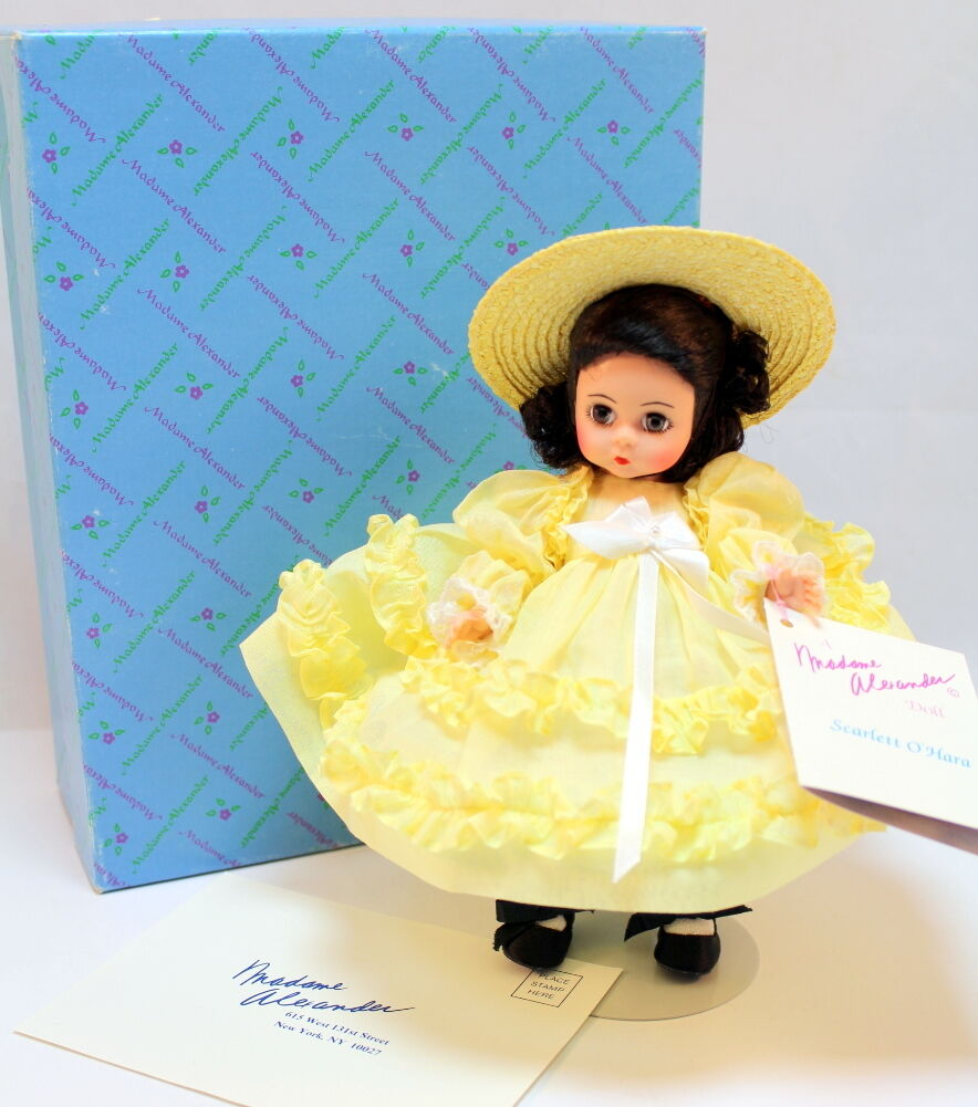Madame Alexander Scarlett O 'Hara Amarillo aro Vestido Traje Sombrero