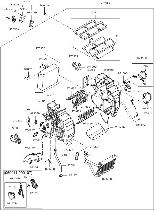 Oem 971542e250 Heater Control Mode Actuator Fot Tucson 05 09 Kia