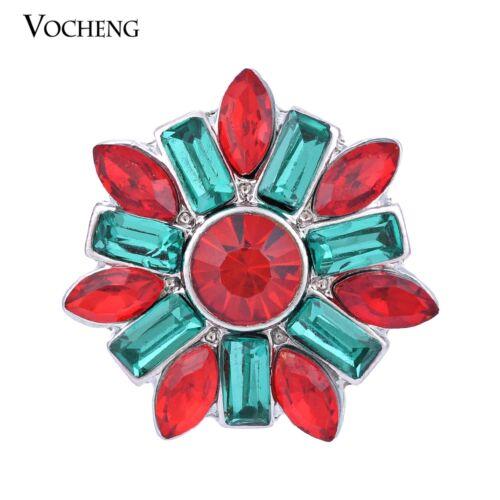 Vocheng Snap Charms 18 mm incrusté cristal interchangeables Bouton Bijoux Vn-907
