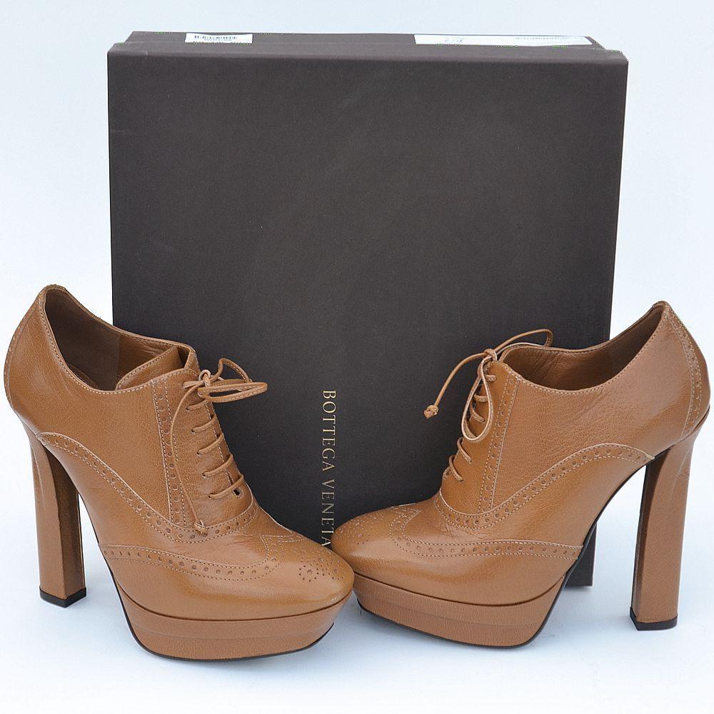 BOTTEGA VENETA New New New sz 39.5 - 9.5  950 Designer Donna Lace Up High Heels Shoes 1dbda5