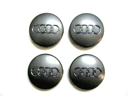 4x Original Audi Nabenkappe Nabendeckel Felgendeckel Felgenkappe grau