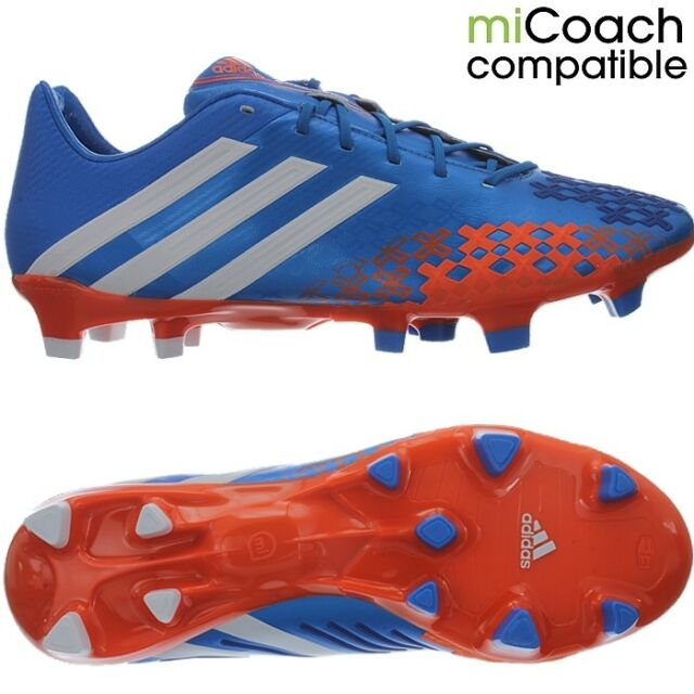 cheap for discount 70e4f bc589 adidas Predator LZ TRX FG Firm Ground Football BOOTS Blue UK 6   eBay