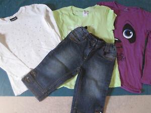 Langarmshirts / Sweatshirts / TShirt / Kurze Hose Set Größe 122 / 128 - Düsseldorf, Deutschland - Langarmshirts / Sweatshirts / TShirt / Kurze Hose Set Größe 122 / 128 - Düsseldorf, Deutschland