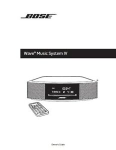 bose wave iv user manual photocopy ebay rh ebay com Bose Multiple CD Player Bose Wave II CD Changer