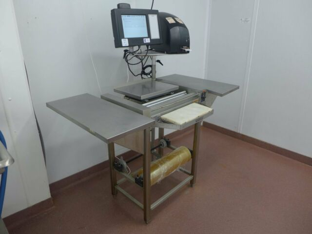 2015 Hobart Access Meat Hand Wrap HWS-4 Station, EPCP Console, EPP Printer Scale