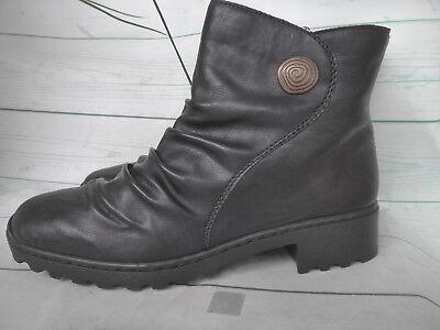 Rieker Booty Boots Stiefelette Damen Schuhe Gr. 42 Schwarz 6YDqd
