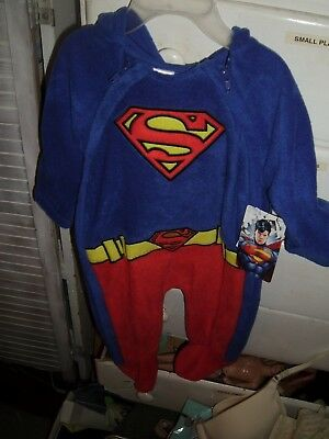 Infant Baby DC Super Girl Romper New With Tags 3 IN 1 Sleeper Tee Combine