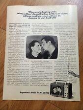 1966 Panasonic Television TV Ad AC/Battery FM-AM Radio