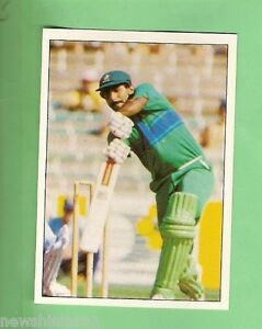 1985 SCANLENS CRICKET STICKER #15  JAVED MIANDAD, PAKISTAN