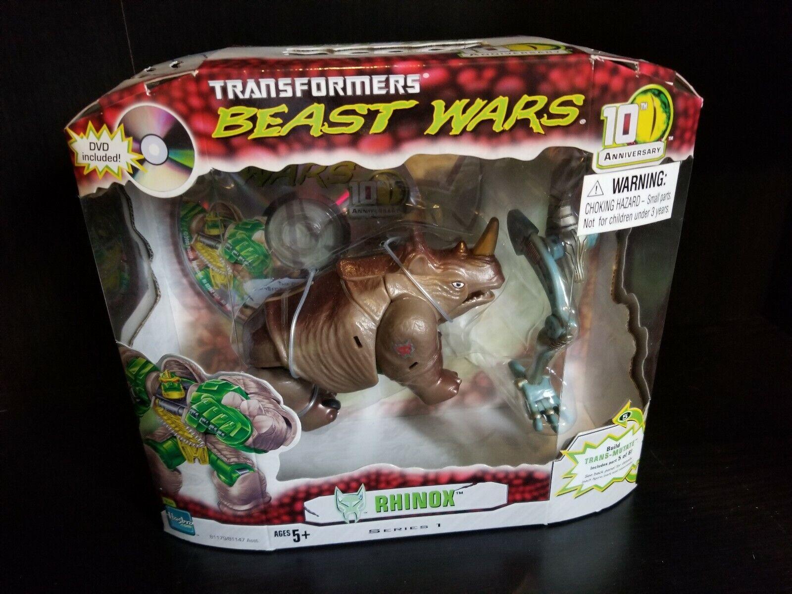 Beast guerras Transformers 10th Anniversary Rhinox BAF Transmutate sealed