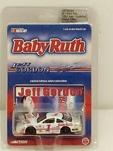 1998 #1 Jeff Gordon Baby Ruth 1992 Ford T-Bird 1/64 Action ...
