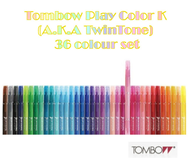 Tombow Play colour K (A.K.A Twintone) 36 pen set
